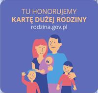 Tu honorujemy Kartę Dużej Rodziny. rodzina.gov.pl